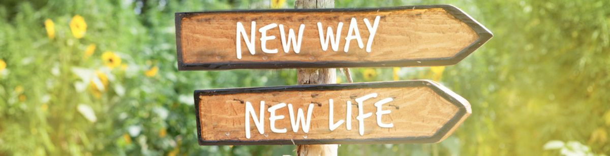 """New Way, New Life"" road signs remind us to start over after 50"